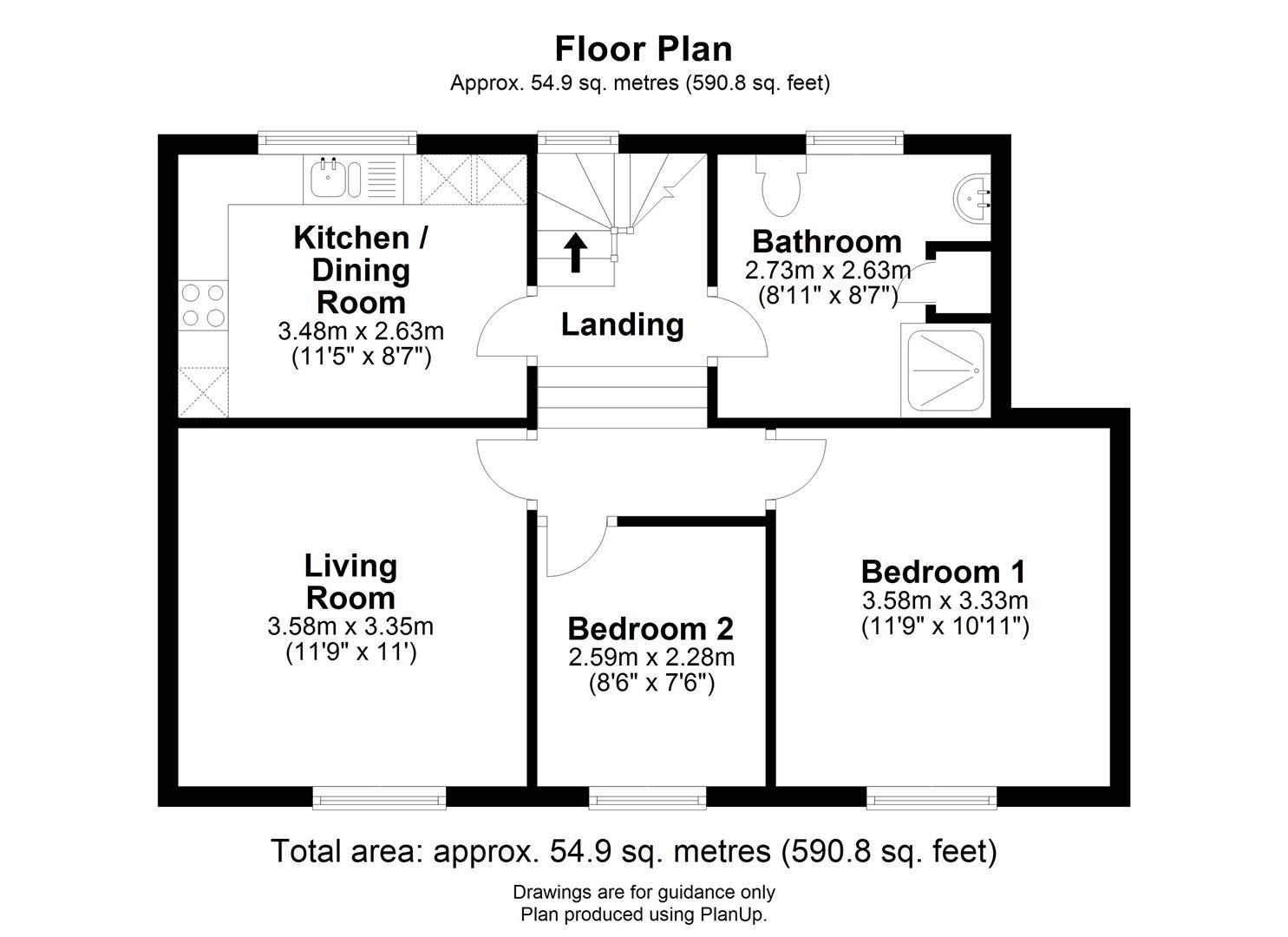 Floor plan High Street, Cottenham, Cambridge